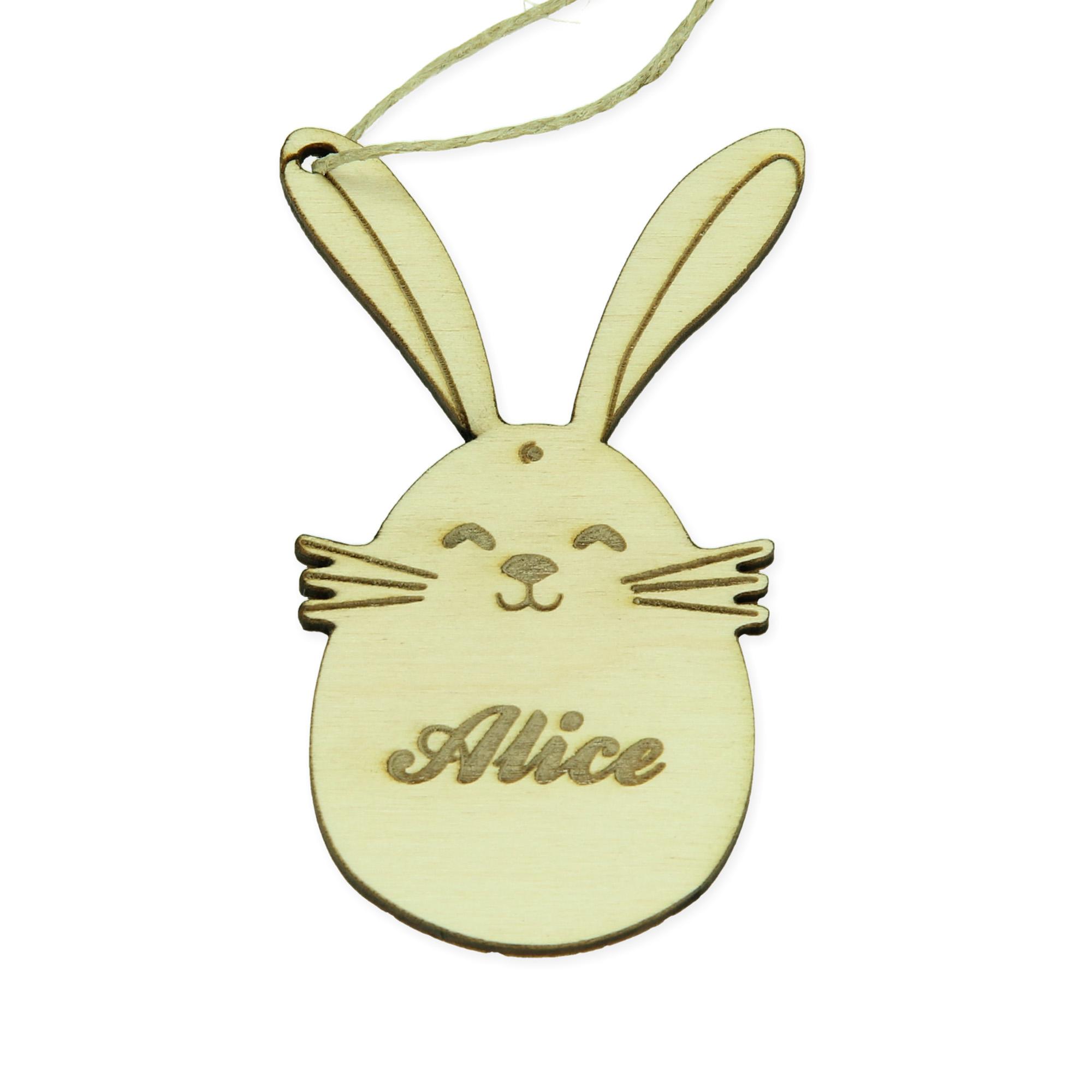 Pendentif de Pâques avec nom - lapin de Pâques 2