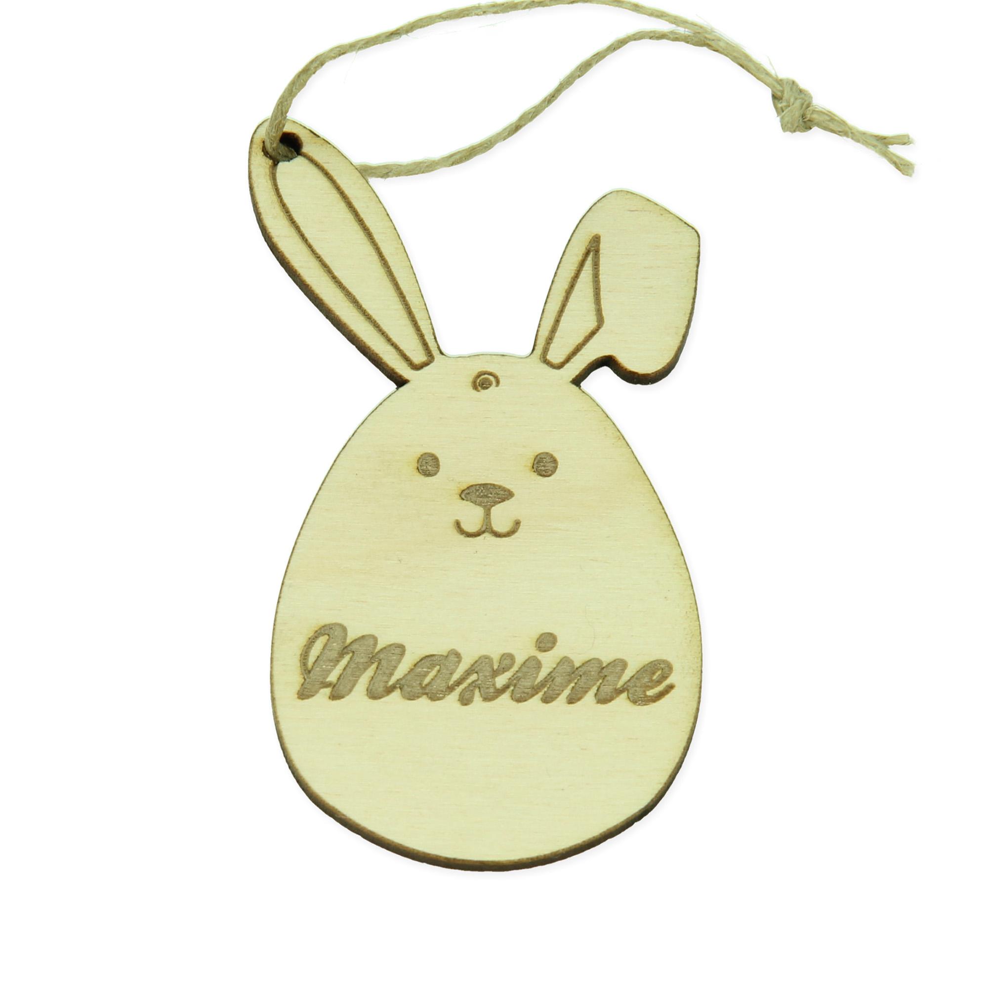 Pendentif de Pâques avec nom - lapin de Pâques 4