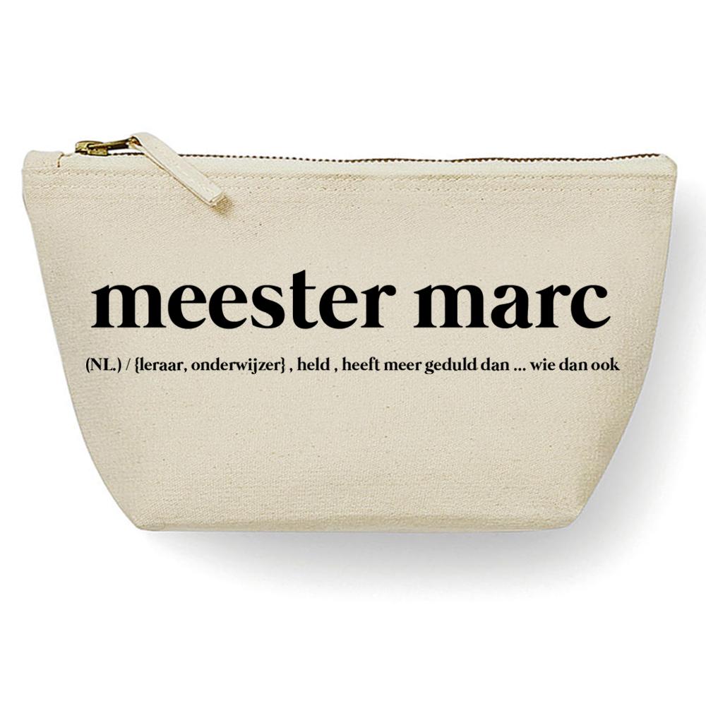 Canvas Tas - Meester