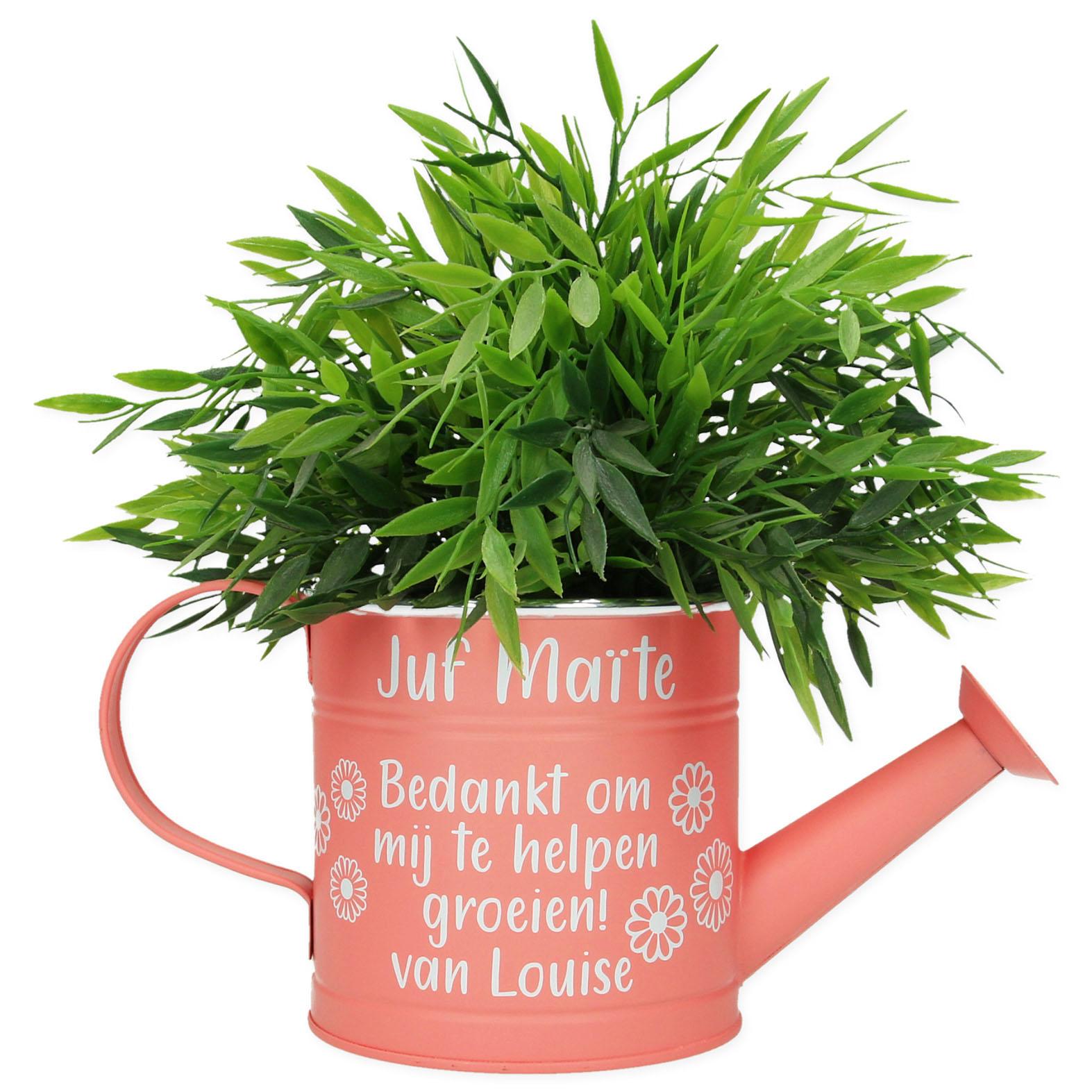 Gepersonaliseerde gieter - Bedankt om mij te helpen groeien
