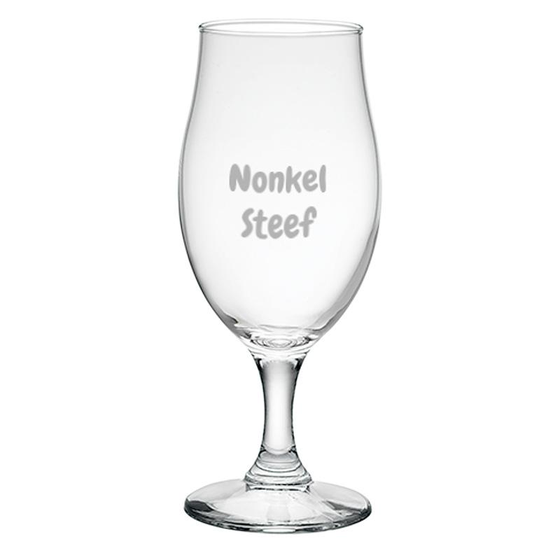 Verre à bière personnalisable avec un texte