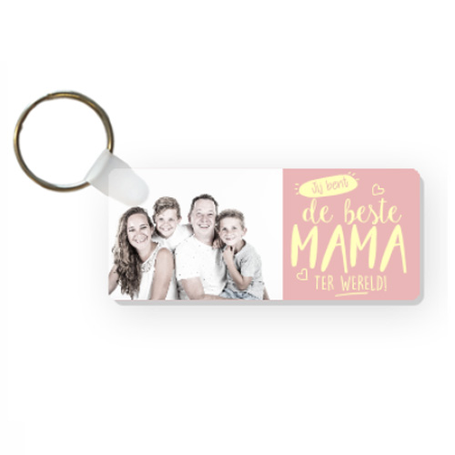 Portes-clés fêtes des mères avec prénom ( rectangle)