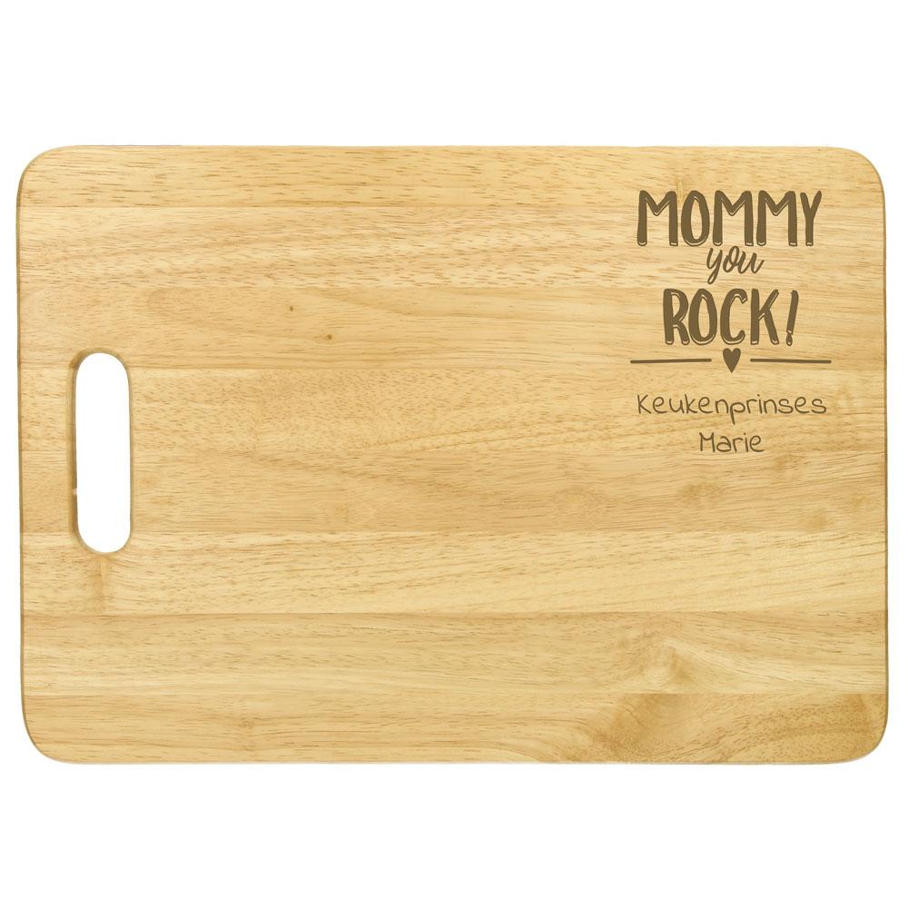 Planche à découper en bambou pour la fête des mères avec texte et/ou image