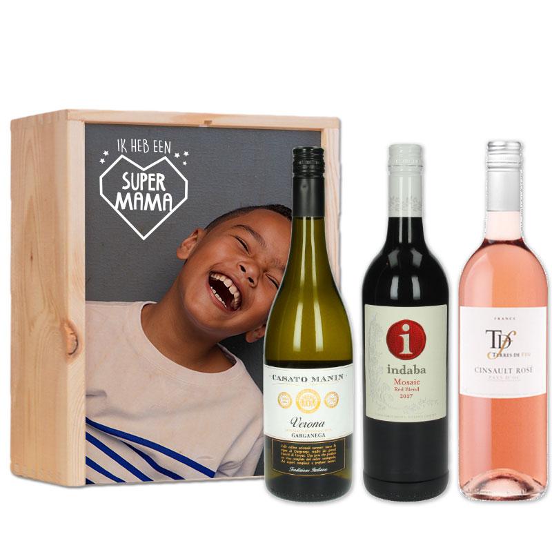 Gepersonaliseerd wijnpakket Wit, Rood & Rosé