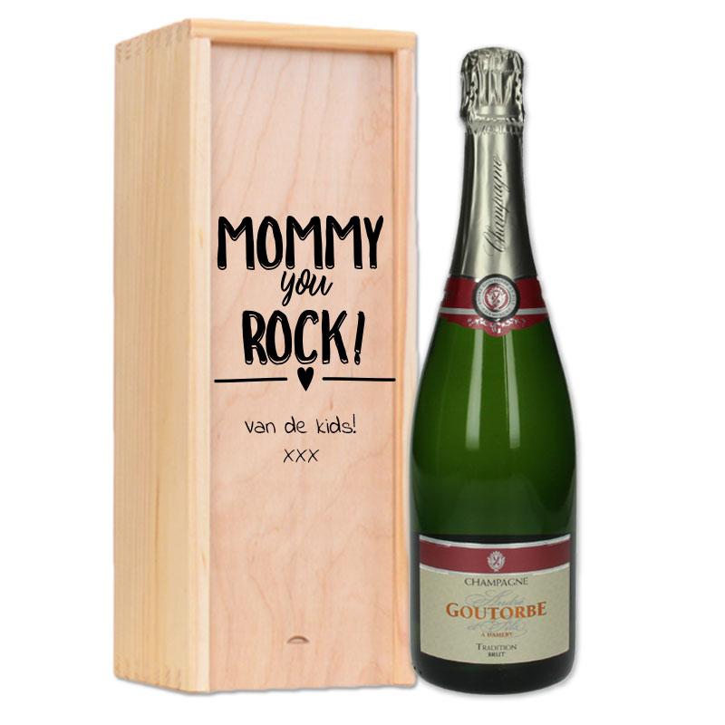 Gepersonaliseerde champagnepakket André Goutorbe Brut Tradition