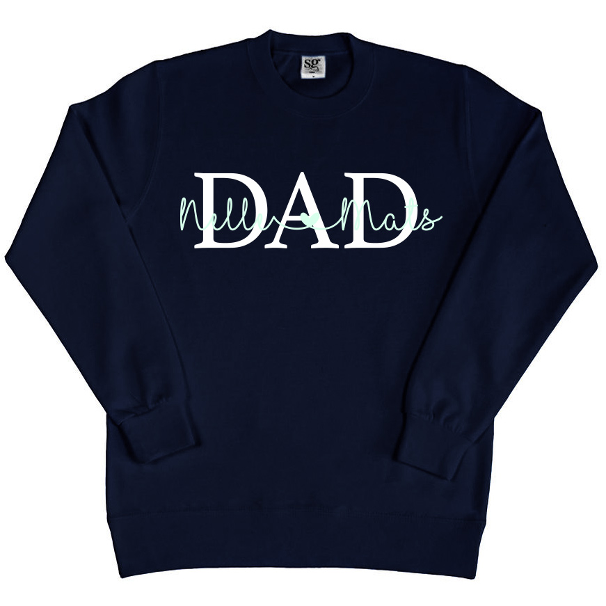 Dad sweater met namen - Navy