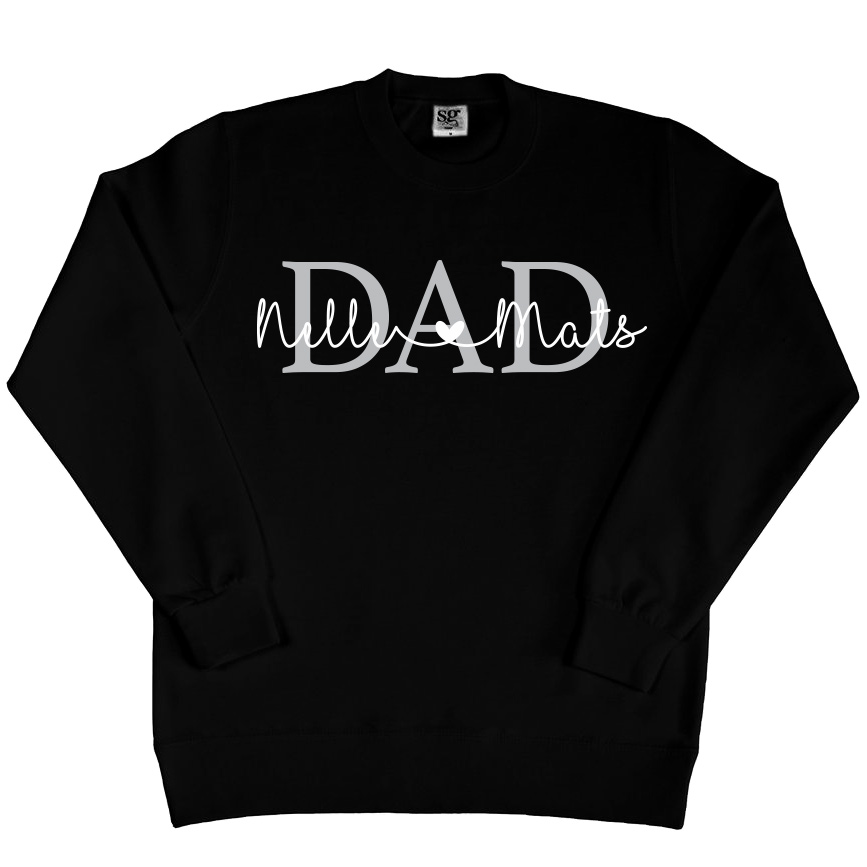 Dad sweater met namen - Zwart