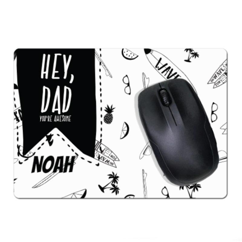 Tapis de souris pour la fête des pères avec photo et texte