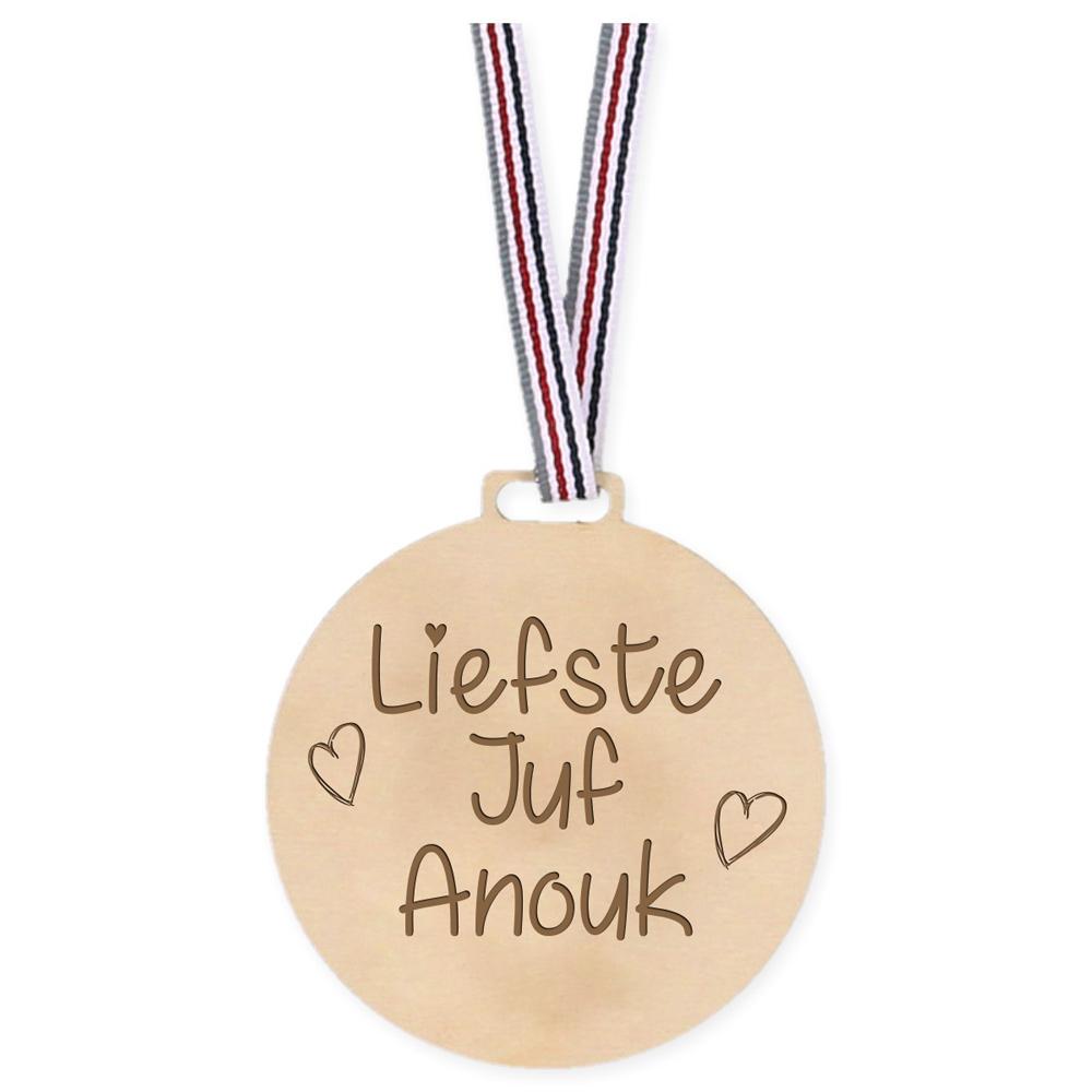 Médaille en bois - Chère maîtresse