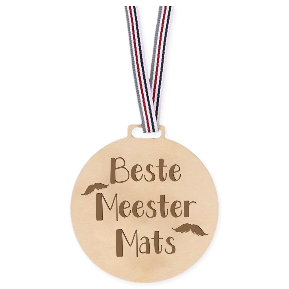 Houten Medaille - Beste Meester