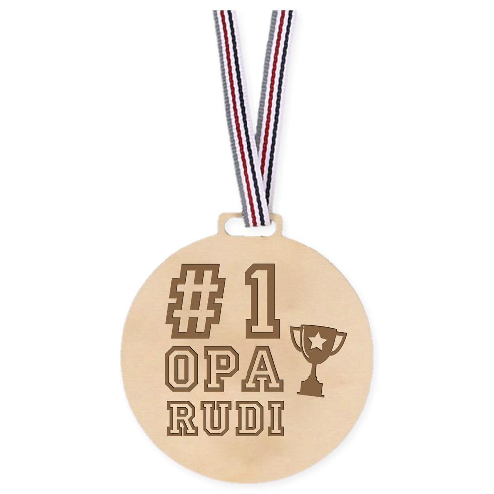 Houten Medaille - Number 1 Opa