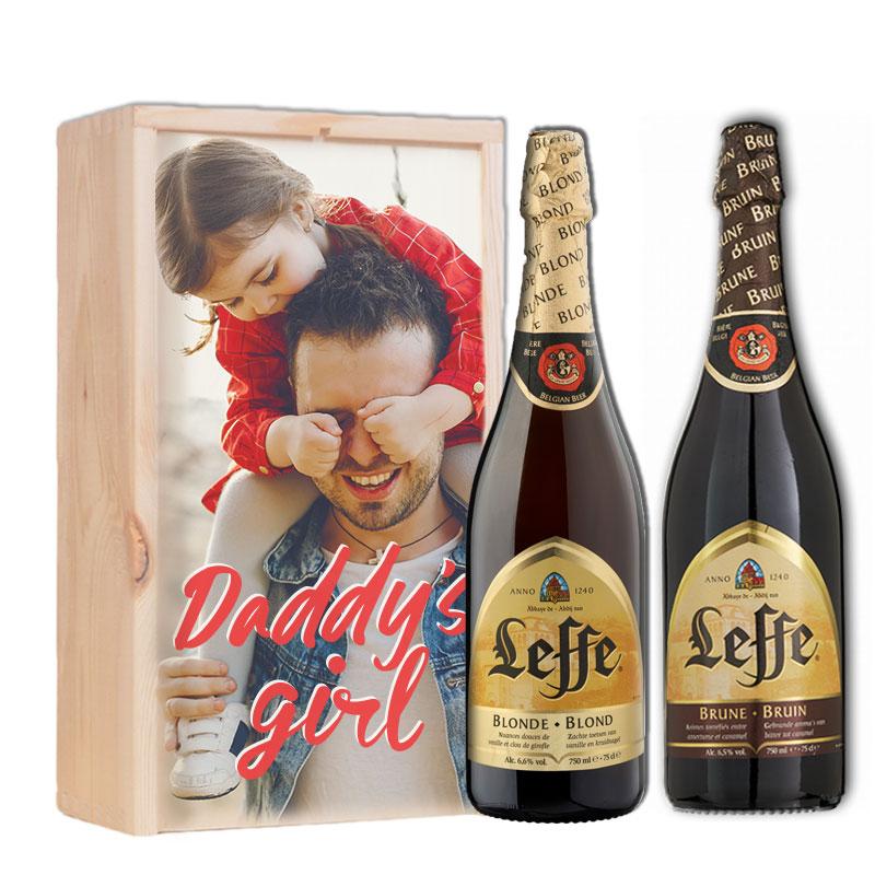 Gepersonaliseerd bierpakket met Leffe Blond & Bruin