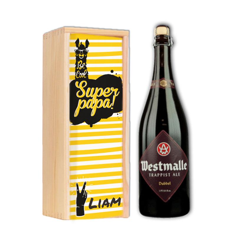 Gepersonaliseerd bierpakket met Westmalle Dubbel
