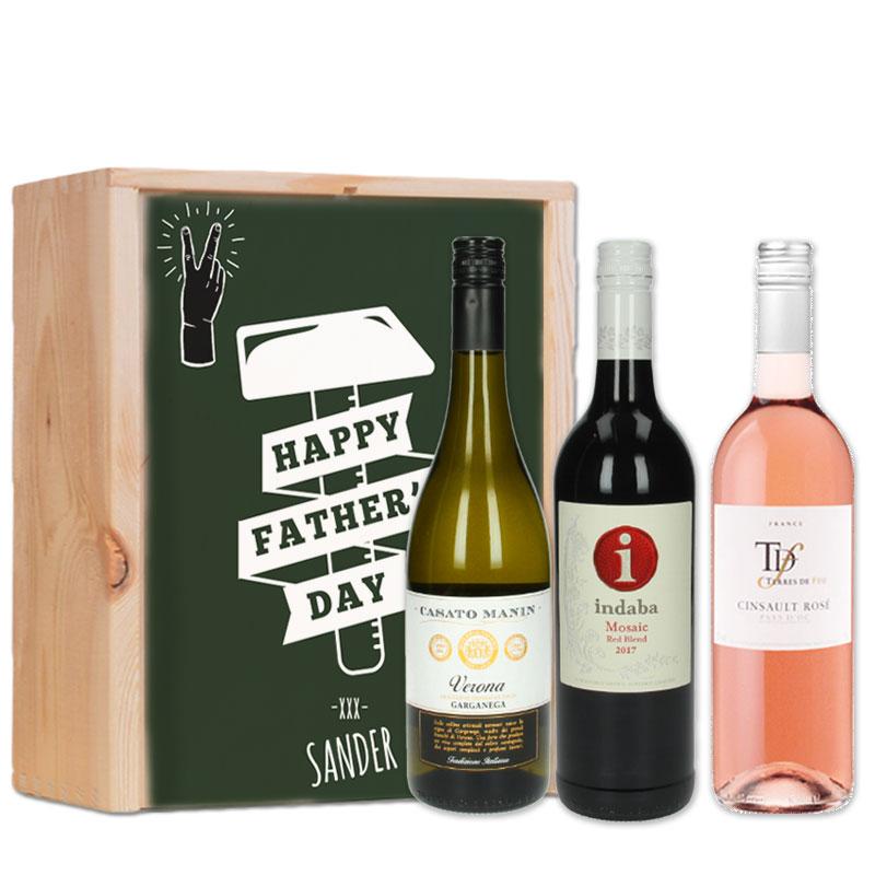 Coffret à vin rouge, rosé et blanc personnalisé