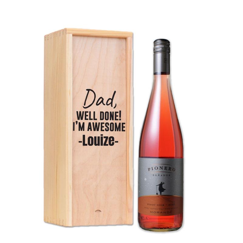Coffret à vin personnalisé Morande pinot noir rosé