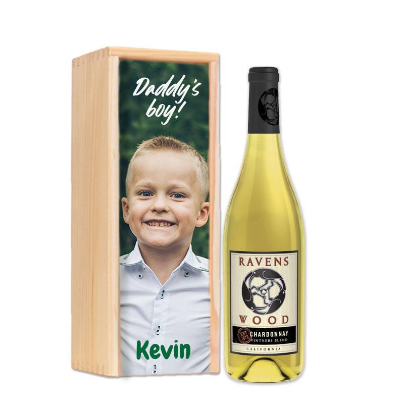 Coffret à vin personnalisé  Ravenswood Vintners Blend Chardonnay