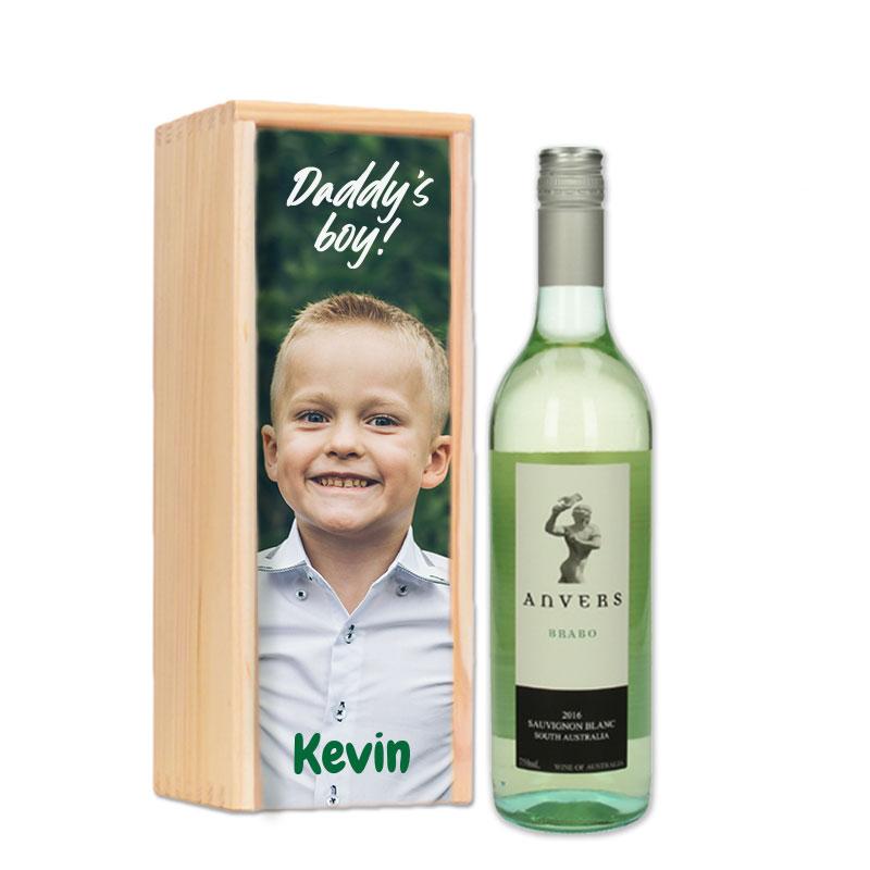 Coffret à vin Anvers Brabo Sauvignon Blanc personnalisé