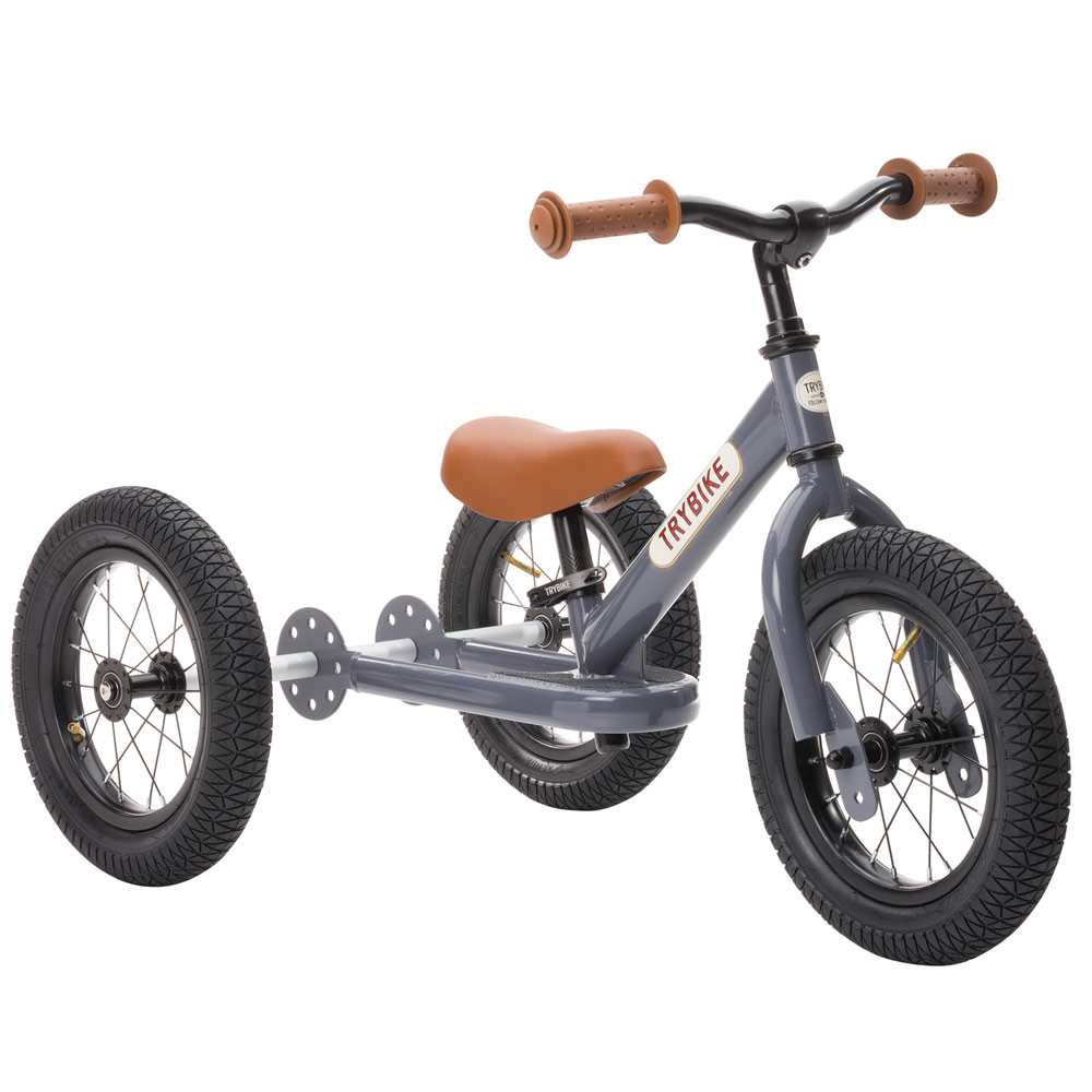 Trybike Steel Loopfiets 2-in-1  Grijs