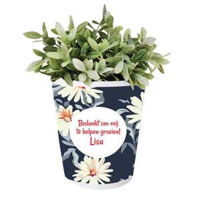 Pot de fleurs personnalisé pour maîtresse/maître
