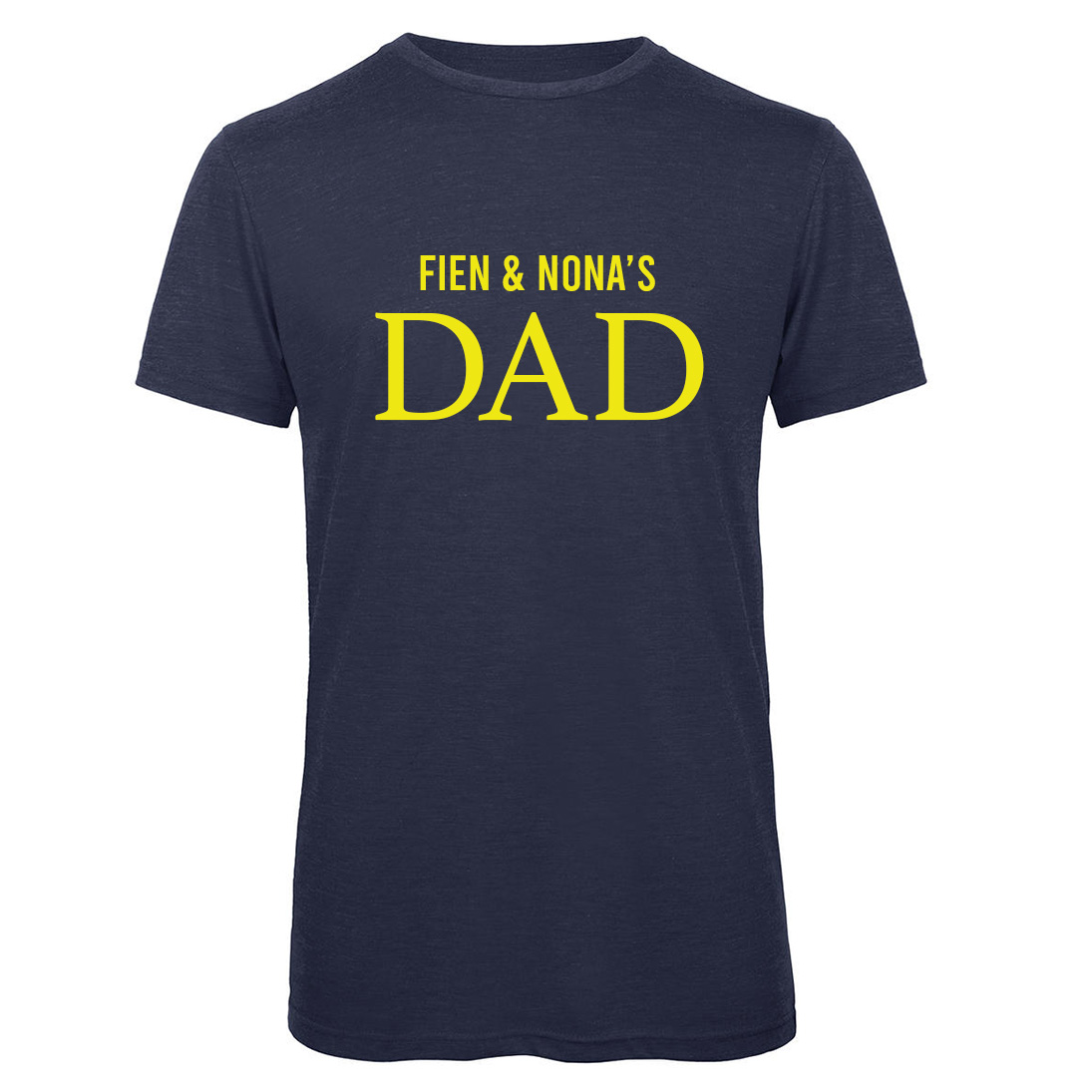 Dad T-shirt met namen - Navy