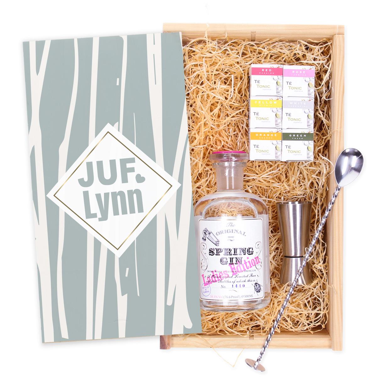 Coffret Spring Gin personnalisé avec 6 infusions + une cuillère
