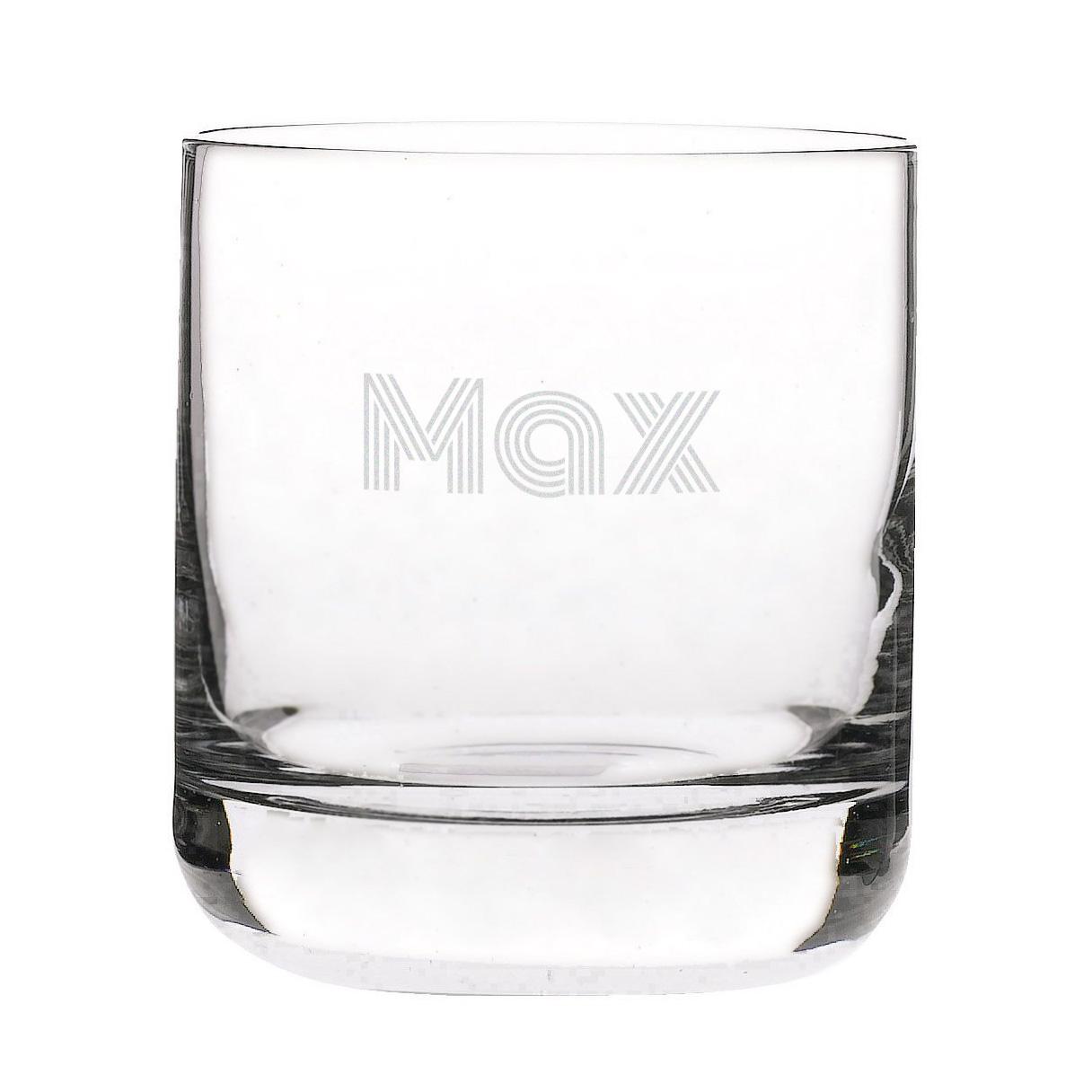 Whiskyglas met eigen tekst of naam