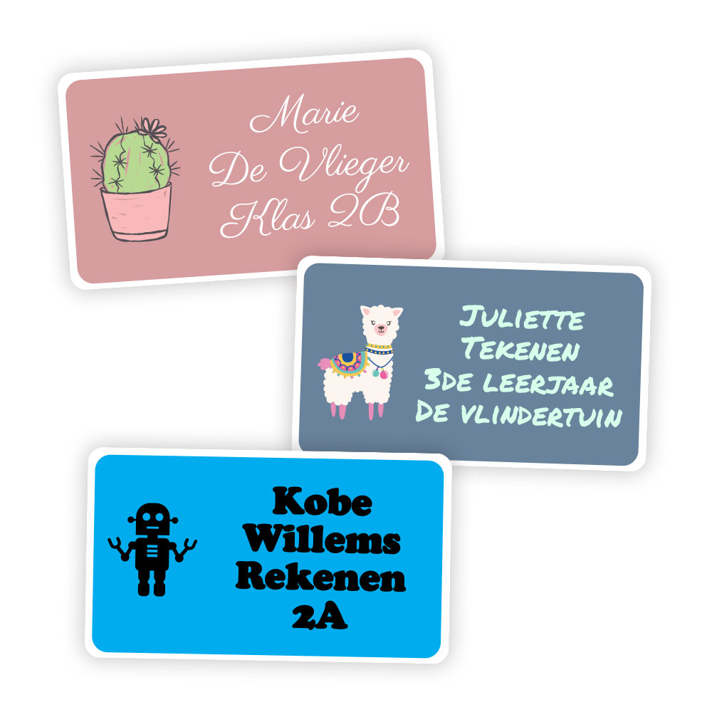 15 workbook labels (7 x 4cm)