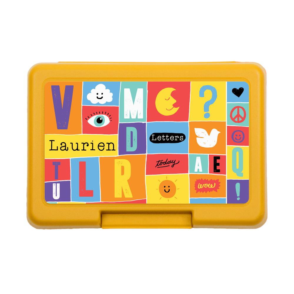 Letterdoosje met naam - Colorful  Blocks