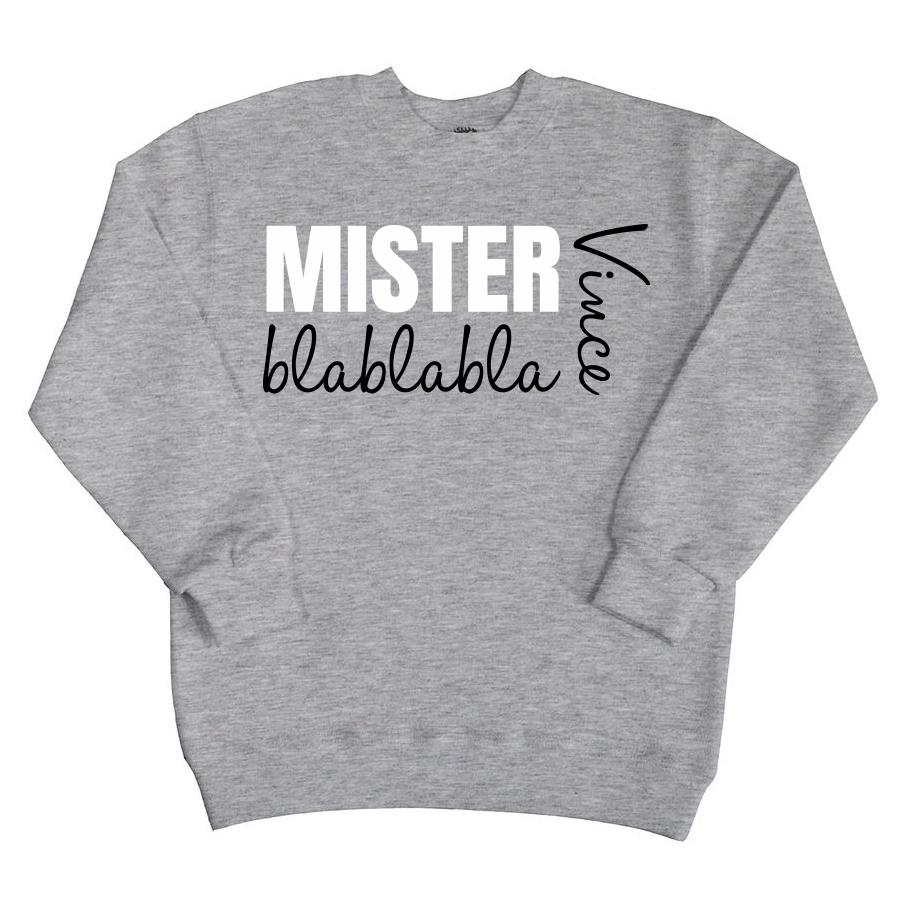 Sweater met naam - Mister Blablabla