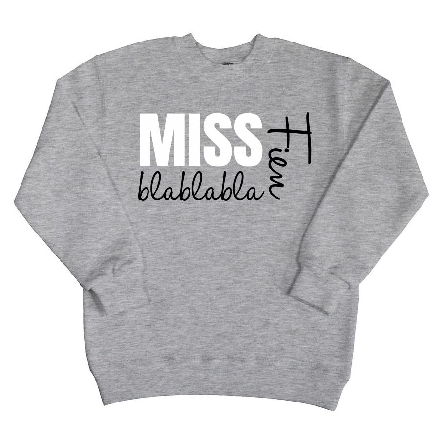 Sweater met naam - Miss Blablabla