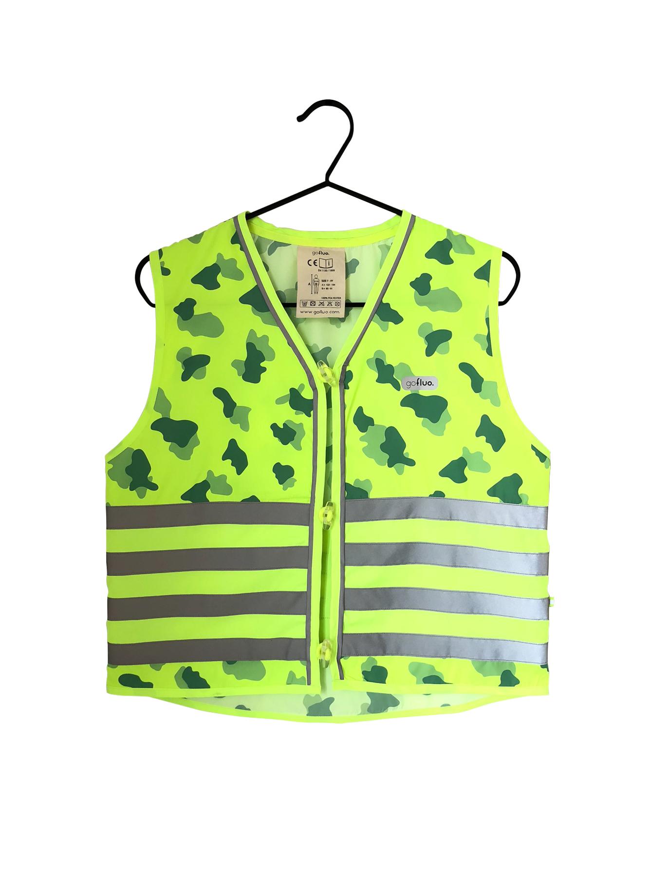 Fluohesje Camou groen size 10-12Y