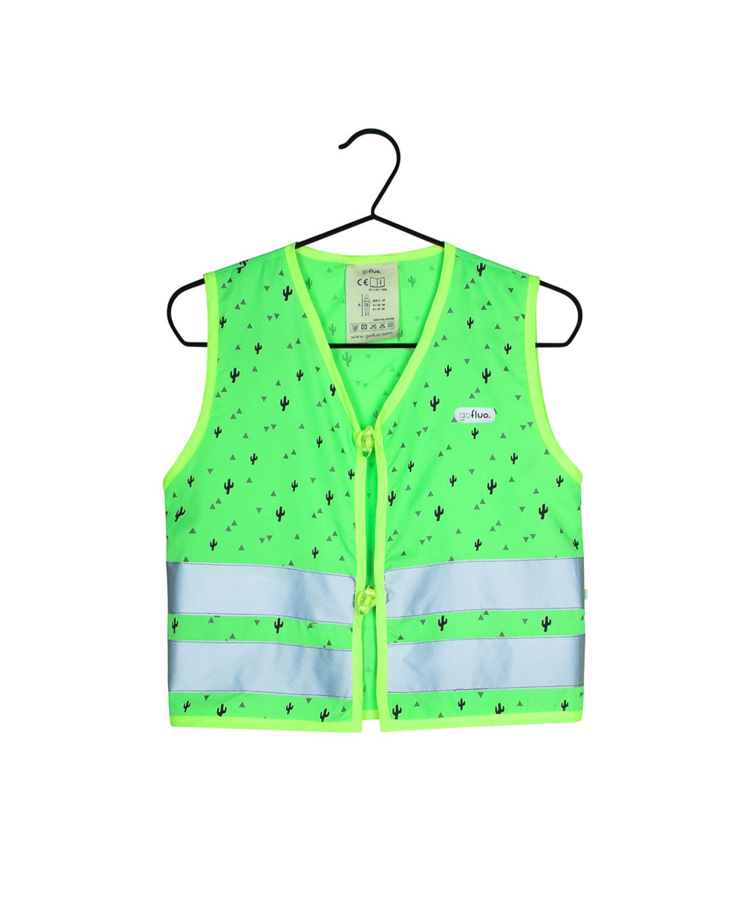 Fluohesje Phill groen size 2-3Y