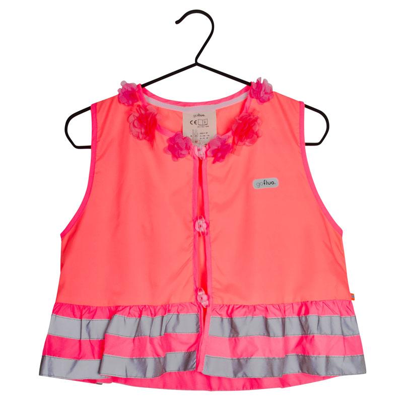 Gilet de sécurité Go Fluo Rosie Coral 4-6 ans