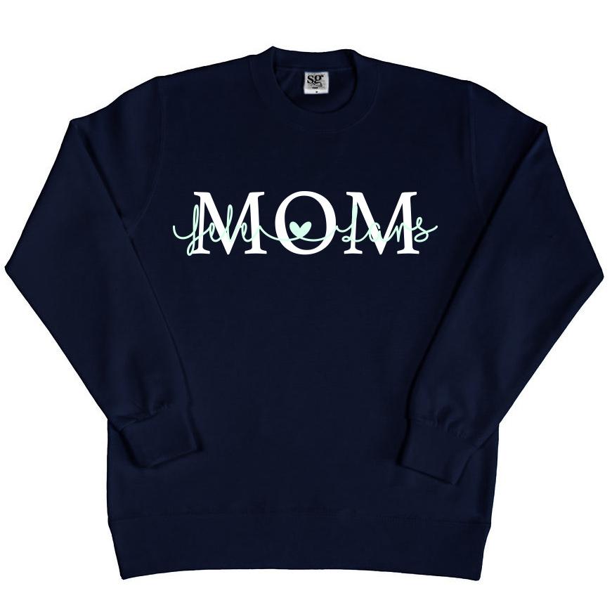 Pull Mom avec prénom  - Noir