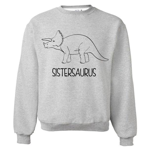 Twinning sweater Dinosaurus - Kids Sister