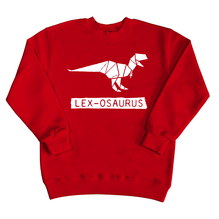 Sweater met naam - Dinosaurus