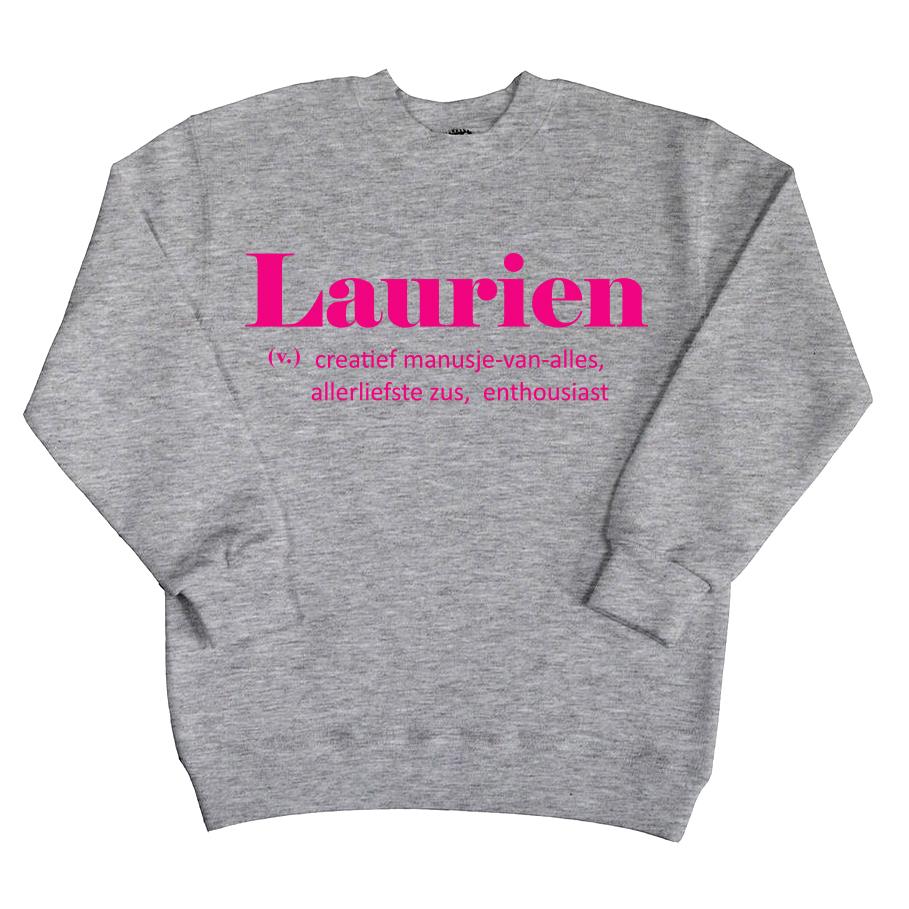 Sweater met naam - Karakter