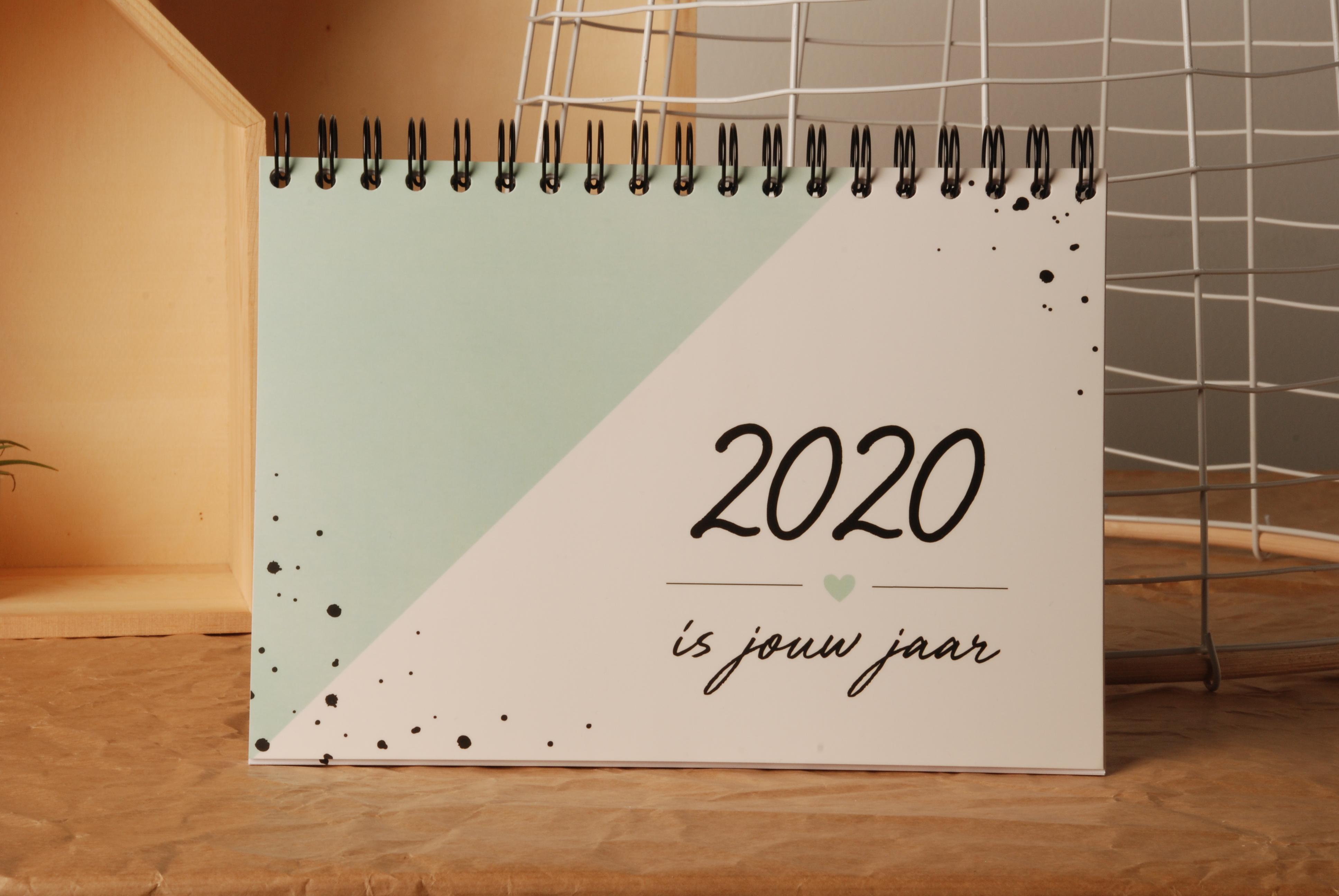 Agenda - planner 2020 mintgroen