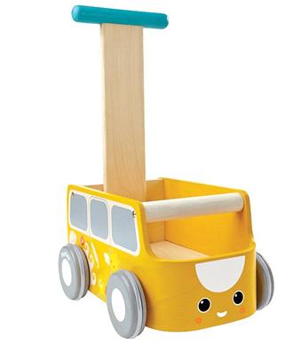 Loopauto geel
