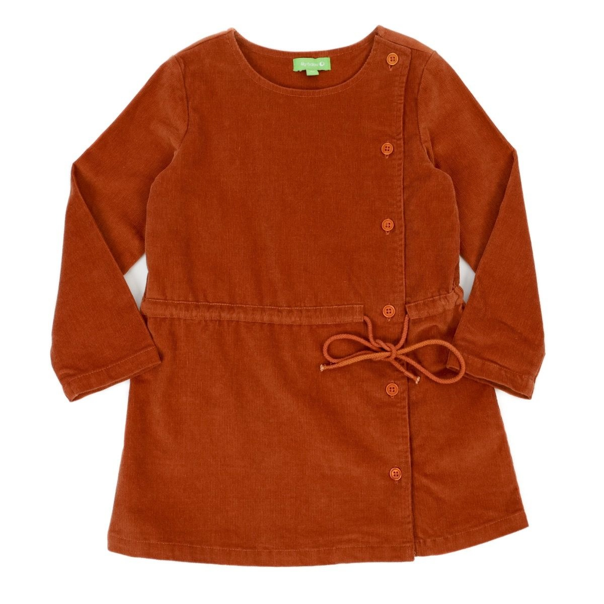 Lily Balou Robe Lucille Biscuit Marron - 140