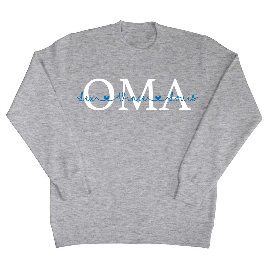 Oma sweater met namen
