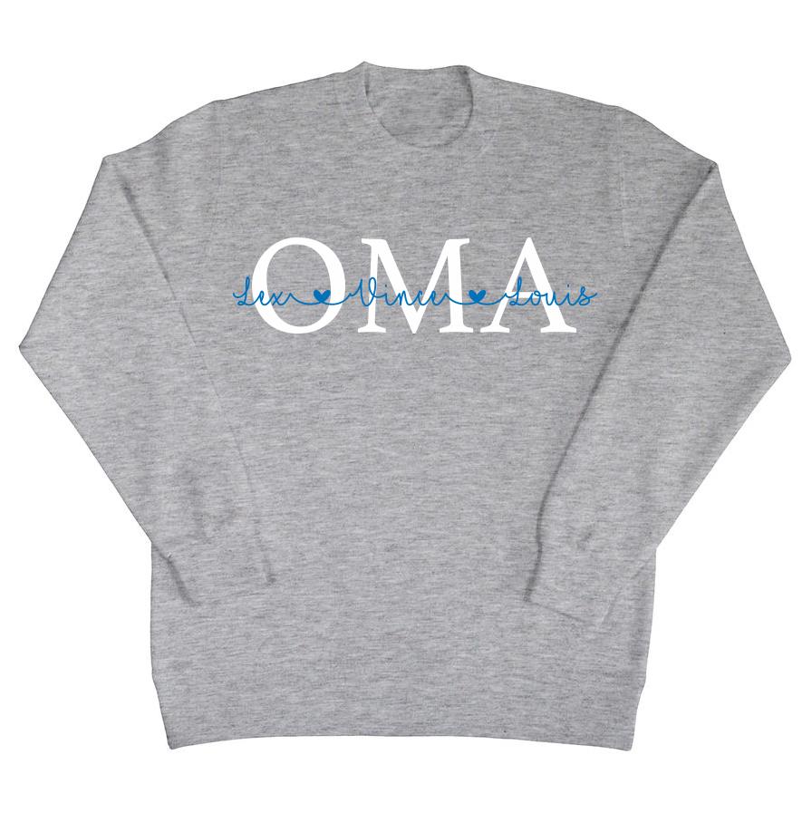 Oma sweater met namen
