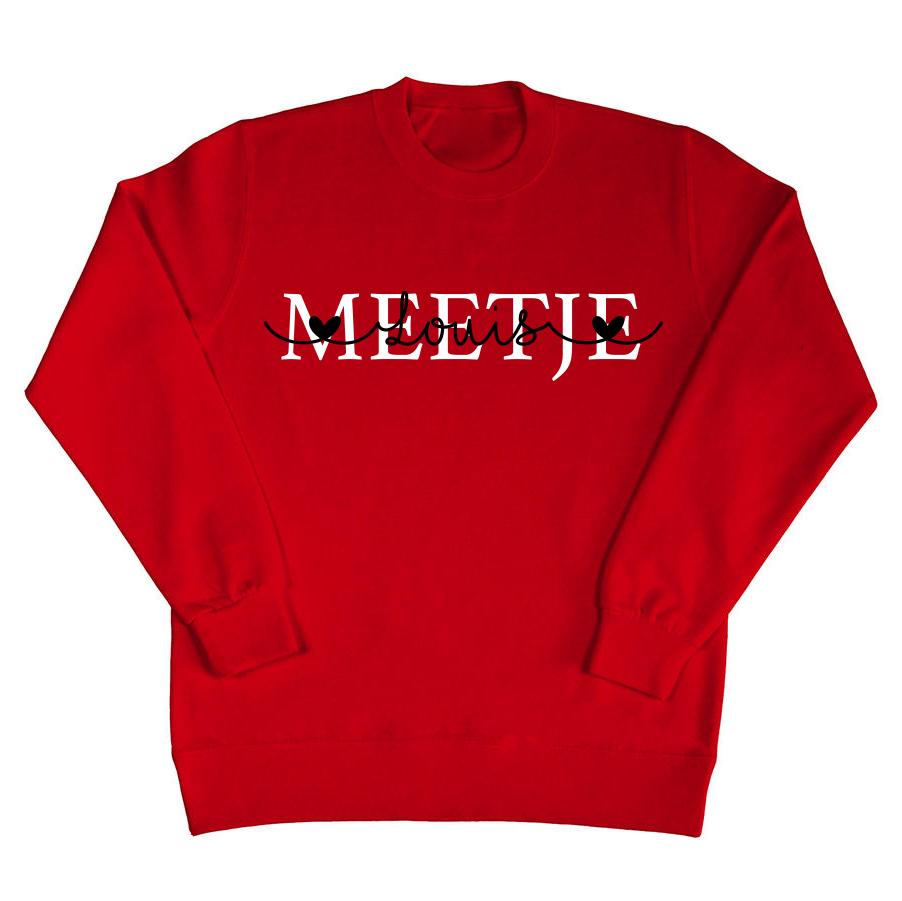 Meetje sweater met namen