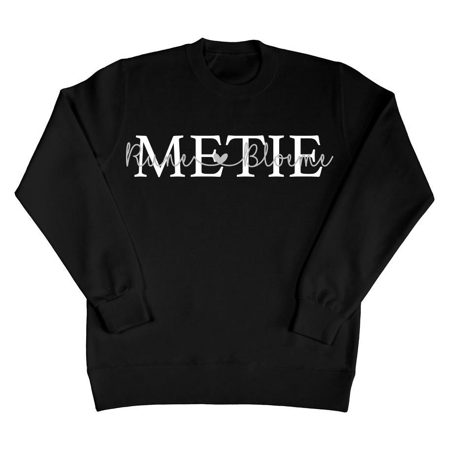 Metie sweater met namen