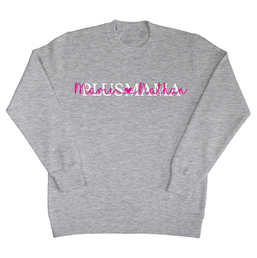 Plusmama sweater met namen
