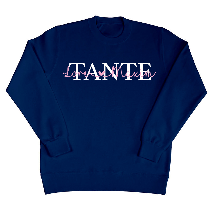 Tante sweater met namen