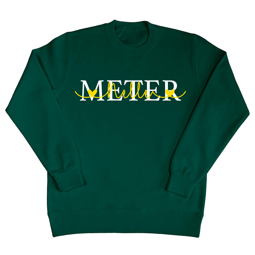 Meter sweater met namen