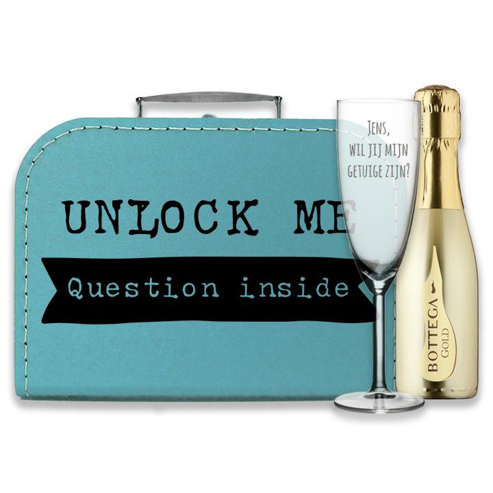 Doosje met een vraag  - Unlock - Wil jij mijn getuige zijn? - bottega gold