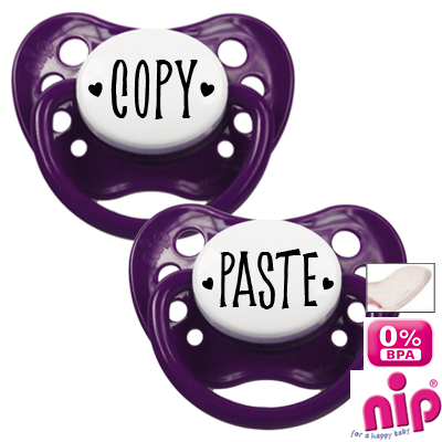 Fopspeen 'Copy and paste' - Set van 2 fopspenen