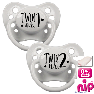 Tétine 'Twin nr.1 and Twin nr.2' - Set de 2 tétines
